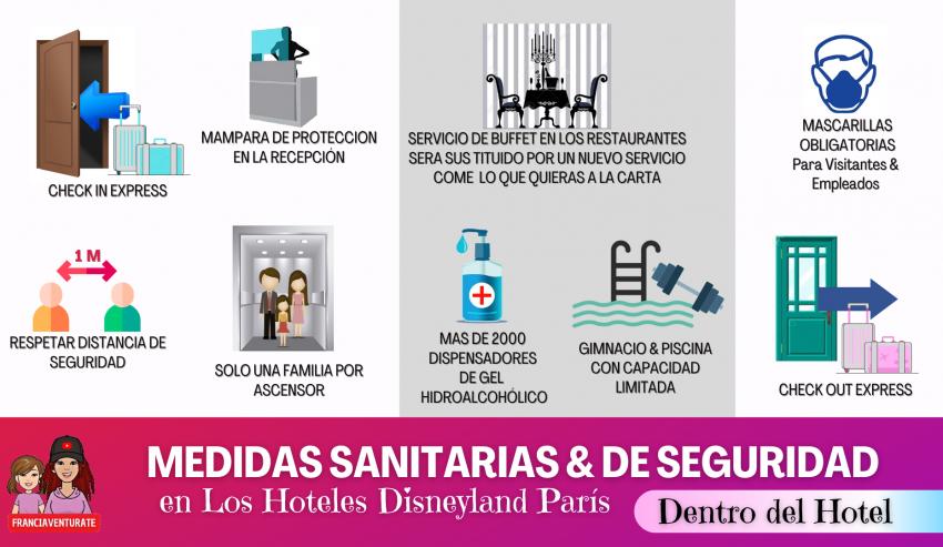 medidas sanitarias y seguridad dentro del hotel disney